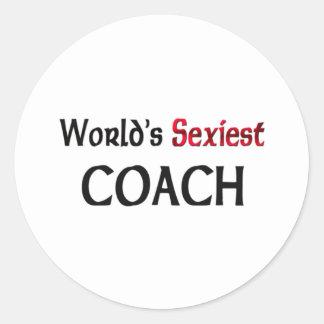 L entraîneur le plus sexy du monde adhésif rond