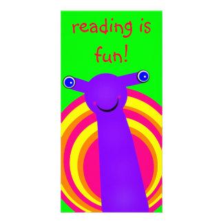 L escargot a conçu la marque-page cartes de vœux avec photo