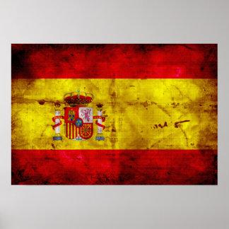 L Espagne bandera de España Affiche