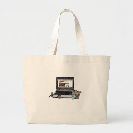 L est pour l'ordinateur portable sac en toile