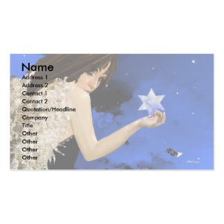 L étoile bleue modèles de cartes de visite