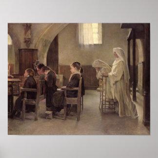 L Ève de la première communion avant 1890 Posters