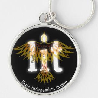 l.i.t. porte - clé de logo de couleur porte-clé rond argenté