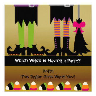 L invitation de fête d anniversaire de Halloween d