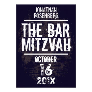 L invitation toute de Mitzvah de barre de groupe d