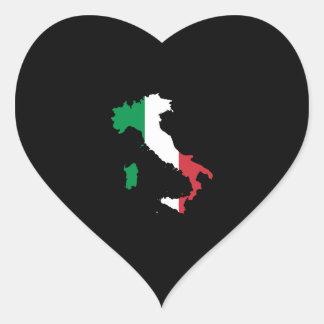 L Italie dans des couleurs de drapeau Adhésifs