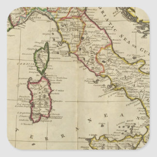 L Italie et la Sardaigne Stickers Carrés