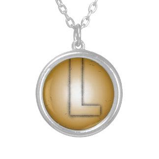 L lettre initiale pendentifs personnalisés
