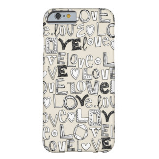 l o v e LOVE ivory white Barely There iPhone 6 Case