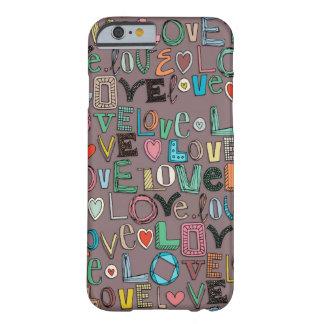 l o v e LOVE mocha Barely There iPhone 6 Case