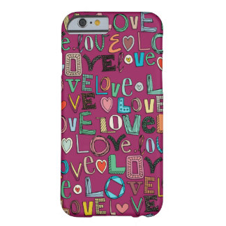 l o v e LOVE pink Barely There iPhone 6 Case