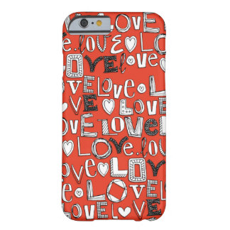 l o v e LOVE red Barely There iPhone 6 Case