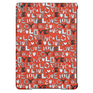 l o v e LOVE red Cover For iPad Air