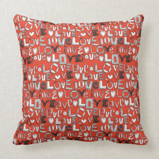 l o v e LOVE red Pillows