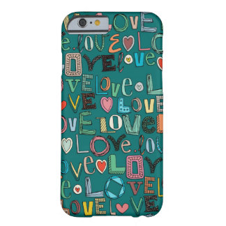 l o v e LOVE teal Barely There iPhone 6 Case
