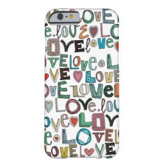 l o v e LOVE white Barely There iPhone 6 Case