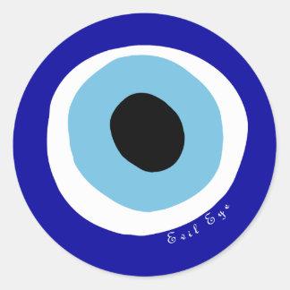 L oeil mauvais adhésifs ronds