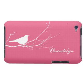 L oiseau était perché sur chic rose blanc de branc étui barely there iPod