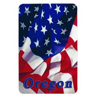 L Orégon sur le drapeau Etats-Unis d Amérique Magnet En Vinyle