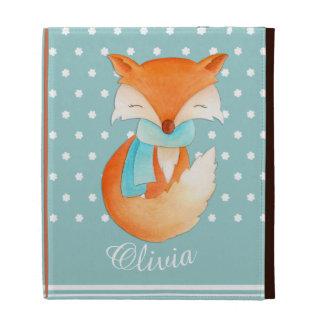 L petit animal de Fox avec l écharpe a appelé des Étui iPad Folio