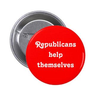 """La """"aide de républicains elles-mêmes"""" se boutonnen badges"""