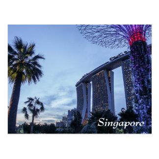 La baie de marina de Singapour ponce la carte