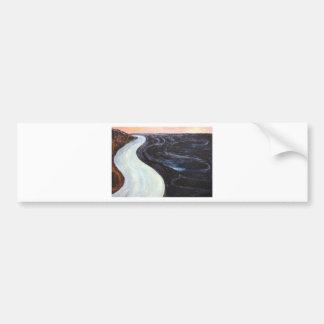 La baie noire (peinture de paysage abstraite) autocollants pour voiture