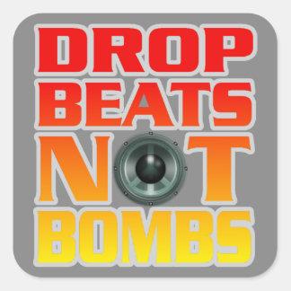 La baisse bat pas des bombes sticker carré