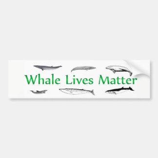 La baleine vit matière autocollant pour voiture