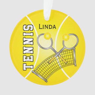 La balle de tennis jaune et prennent le nom au