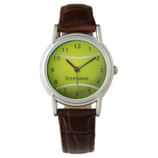 La balle de tennis personnalisée folâtre les montres bracelet