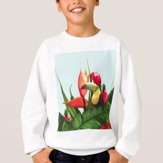 La banane tropicale de toucan part du bouquet sweatshirt