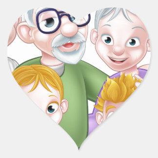 La bande dessinée badine des parents et des sticker cœur