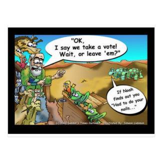 """La bande dessinée drôle """"de l'arche de Noé"""" pique Carte Postale"""