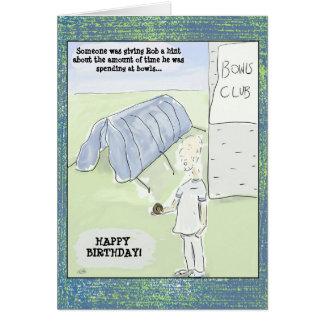 La bande dessinée drôle roule carte d'anniversaire