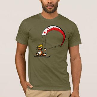 La bande dessinée fraîche de type de kitesurf t-shirt