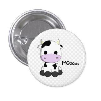 La bande dessinée mignonne de vache à kawaii sur badges