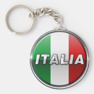 La Bandiera - le drapeau italien Porte-clé Rond