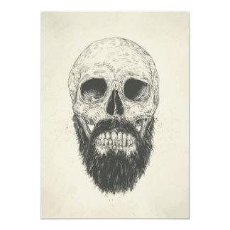 La barbe n'est pas morte carton d'invitation  12,7 cm x 17,78 cm