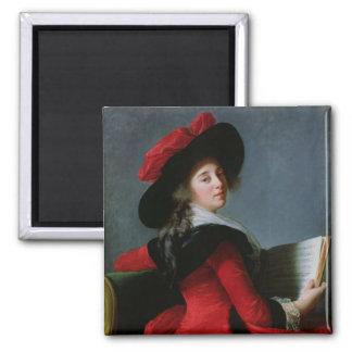 La Baronne de Crussol, 1785 Magnet Carré