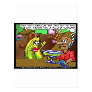 La barre de banane de singe pique les cadeaux etc. cartes postales