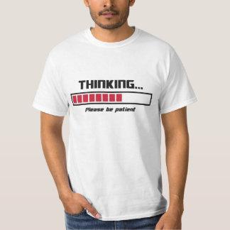 La barre de chargement de pensée veuillez être t-shirt
