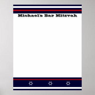 La barre de sports Mitzvah signent dedans le conse Poster