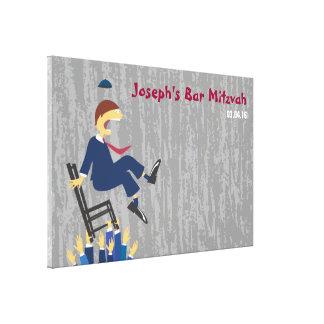 La barre Mitzvah de danse de chaise de Hora Toile Tendue Sur Châssis