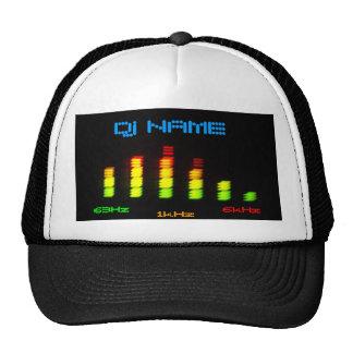 La barre personnelle EQ d'égaliseur du DJ - ajoute Casquette