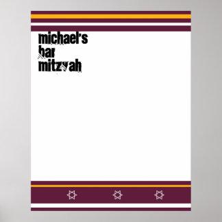 La barre sportive Mitzvah signent dedans le Affiches