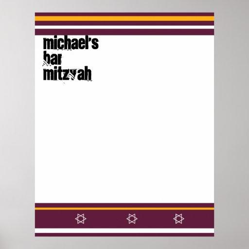 La barre sportive Mitzvah signent dedans le consei Affiches
