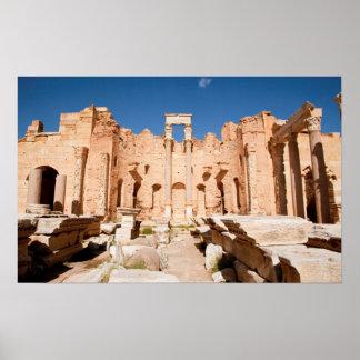 La basilique de Severan, Leptis Magna, Al Khums 2 Affiche