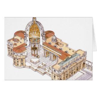 La basilique de St Peter. Ville du Vatican Rome. Carte De Vœux