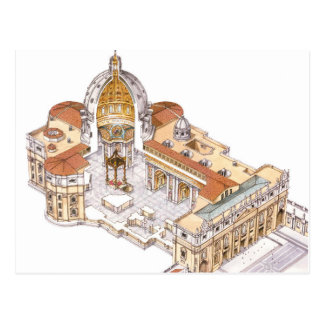La basilique de St Peter. Ville du Vatican Rome. Carte Postale